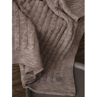 Плед вязаный детский  110*110 см косички Onemorebaby